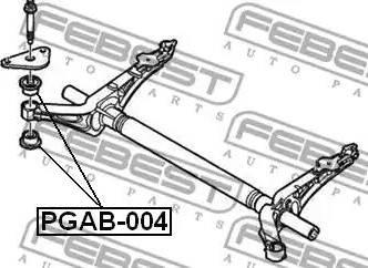 Febest PGAB-004 - Втулка, балка моста avtodrive.by