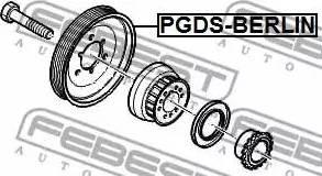 Febest PG-DSBERLIN - Ременный шкив, коленчатый вал avtodrive.by