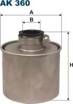 Filtron AK 360 - Воздушный фильтр, компрессор - подсос воздуха avtodrive.by