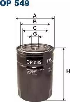 Filtron OP 549 - Фильтр, Гидравлическая система привода рабочего оборудования avtodrive.by