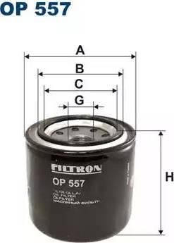 Filtron OP557 - Масляный фильтр avtodrive.by