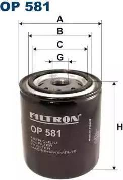 Filtron OP 581 - Фильтр, Гидравлическая система привода рабочего оборудования avtodrive.by