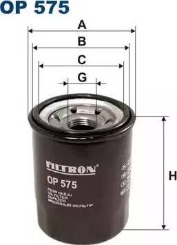 Filtron OP575 - Масляный фильтр avtodrive.by