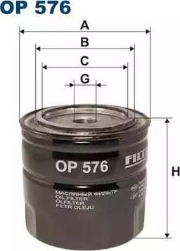 Filtron OP576 - Фильтр, Гидравлическая система привода рабочего оборудования avtodrive.by