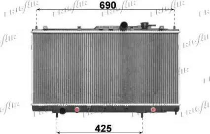 Frigair 0118.3018 - Радиатор, охлаждение двигателя avtodrive.by