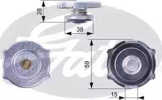 Gates RC135 - Крышка, радиатор avtodrive.by