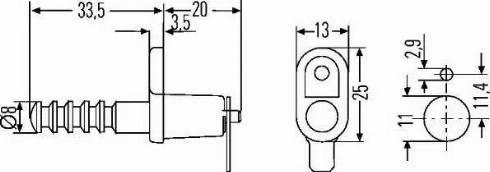 HELLA 6ZF 007 239-001 - Выключатель, контакт двери avtodrive.by