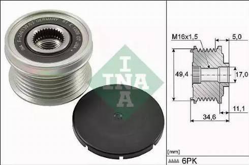 INA 535015510 - Шкив, муфта генератора avtodrive.by