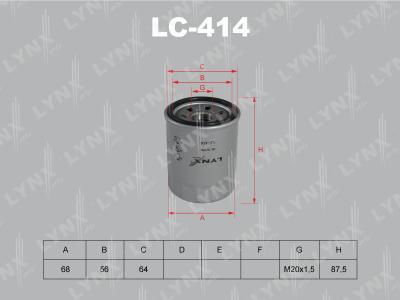 LYNXauto LC-414 - Масляный фильтр avtodrive.by