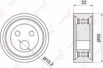 LYNXauto PB-1052 - Натяжной ролик, ремень ГРМ avtodrive.by