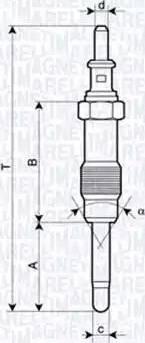 Magneti Marelli 062900046304 - Свеча накаливания avtodrive.by