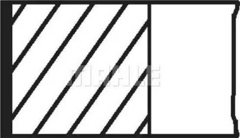 Mahle Original 008 56 N3 - Комплект поршневых колец avtodrive.by