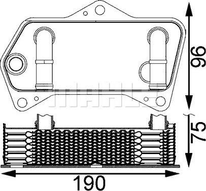Mahle Original CLC 202 000S - Масляный радиатор, автоматическая коробка передач avtodrive.by