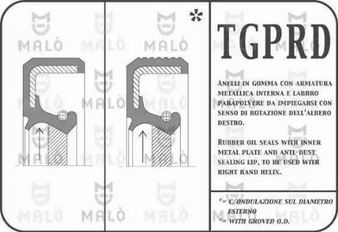 Malò 11734PRDS - Уплотняющее кольцо, дифференциал avtodrive.by