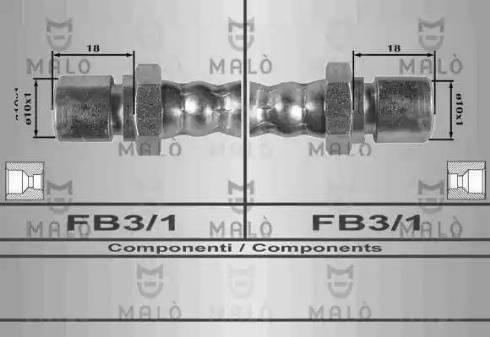 Malò 8541 - Тормозной шланг avtodrive.by