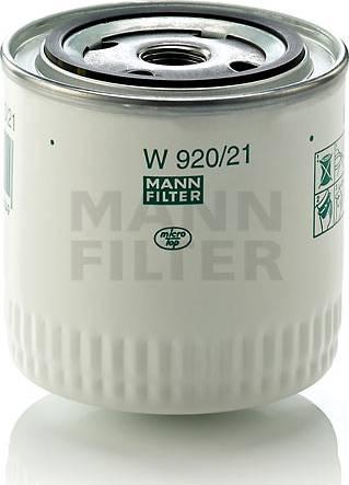 Mann-Filter W 920/21 (10) - Фильтр, Гидравлическая система привода рабочего оборудования avtodrive.by
