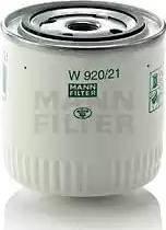 Mann-Filter W 920/21 - Фильтр, Гидравлическая система привода рабочего оборудования avtodrive.by