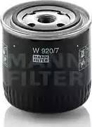 Mann-Filter W 920/7 - Фильтр, Гидравлическая система привода рабочего оборудования avtodrive.by