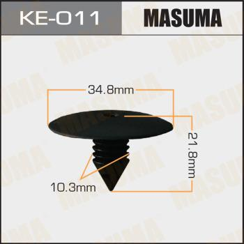 MASUMA KE011 - Зажим, молдинг / защитная накладка avtodrive.by