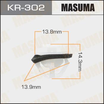 MASUMA KR302 - Зажим, молдинг / защитная накладка avtodrive.by