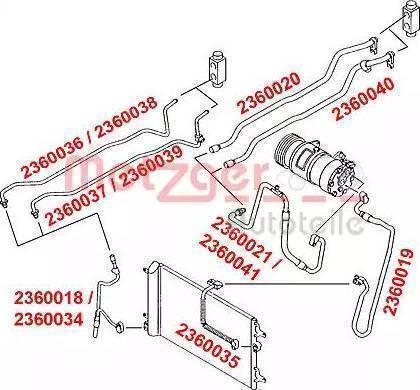Metzger 2360020 - Трубопровод высокого / низкого давления, кондиционер avtodrive.by