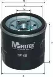 Mfilter TF 45 - Масляный фильтр avtodrive.by