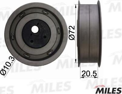 Miles AG02010 - Натяжной ролик, ремень ГРМ avtodrive.by