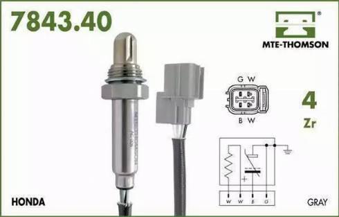 MTE-Thomson 7843.40.075 - Лямбда-зонд, датчик кислорода avtodrive.by