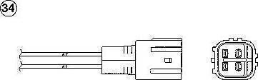 NGK 1416 - Лямбда-зонд, датчик кислорода avtodrive.by