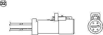 NGK 1766 - Лямбда-зонд, датчик кислорода avtodrive.by