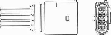 NGK 0393 - Лямбда-зонд, датчик кислорода avtodrive.by