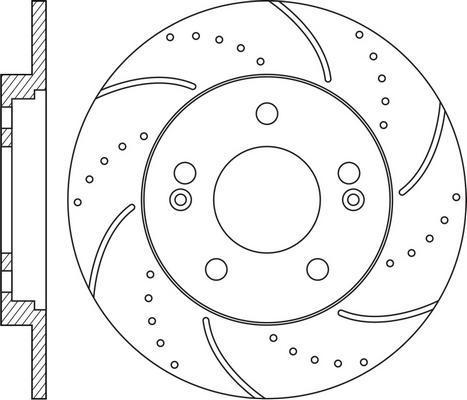 NiBK RN1601DSET - Экономичный тормозной диск avtodrive.by