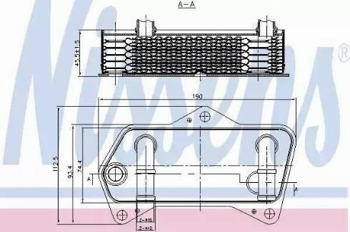 Nissens 90653 - Масляный радиатор, автоматическая коробка передач avtodrive.by