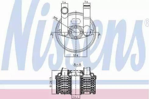 Nissens 90666 - Масляный радиатор, автоматическая коробка передач avtodrive.by