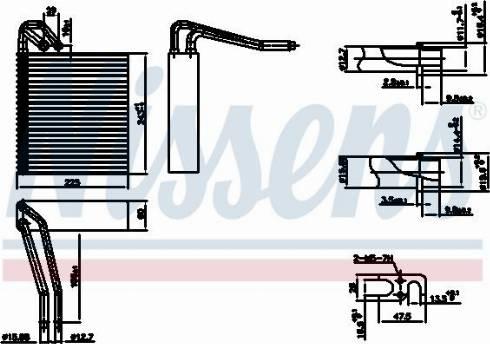 Nissens 92331 - Испаритель, кондиционер avtodrive.by