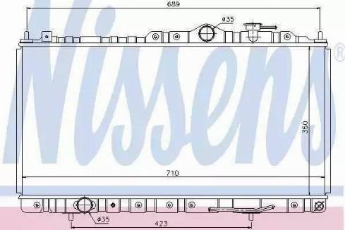 Nissens 68180 - Радиатор, охлаждение двигателя avtodrive.by