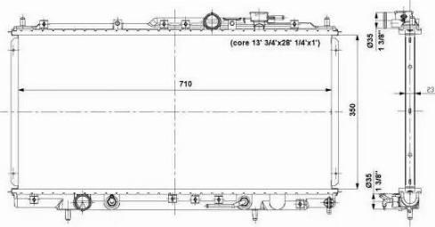 NRF 56019 - Радиатор, охлаждение двигателя avtodrive.by
