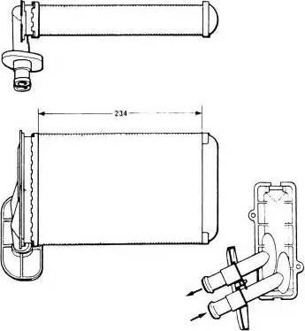 NRF 58622 - Теплообменник, отопление салона avtodrive.by