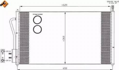 NRF 35345 - Конденсатор, кондиционер avtodrive.by