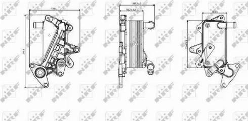 NRF 31357 - Масляный радиатор, автоматическая коробка передач avtodrive.by