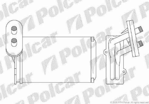 Polcar 9534N8A1 - Теплообменник, отопление салона avtodrive.by