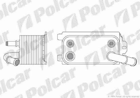 Polcar 9071L81 - Масляный радиатор, автоматическая коробка передач avtodrive.by