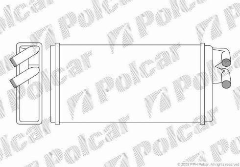Polcar 1315N81 - Теплообменник, отопление салона avtodrive.by