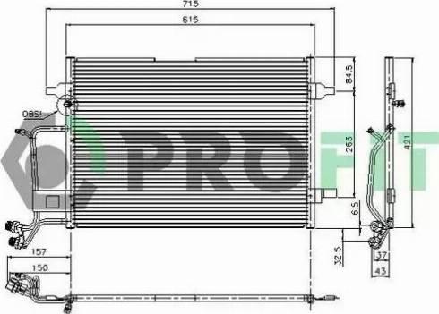 Profit PR9540C3 - Конденсатор, кондиционер avtodrive.by