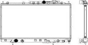 SAKURA Automotive 3321-1030 - Радиатор, охлаждение двигателя avtodrive.by