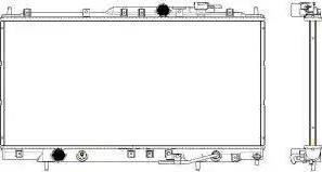 SAKURA Automotive 3321-1029 - Радиатор, охлаждение двигателя avtodrive.by