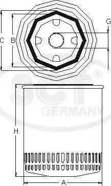 SCT Germany SM 5701 - Масляный фильтр avtodrive.by
