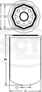 SCT Germany STB 300 - Патрон осушителя воздуха, пневматическая система avtodrive.by