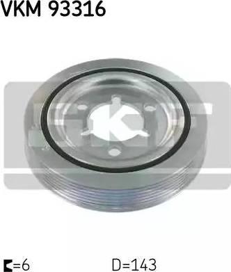 SKF VKM93316 - Ременный шкив, коленчатый вал avtodrive.by
