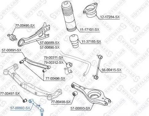 Stellox 57-00892-SX - Продольная рулевая тяга avtodrive.by